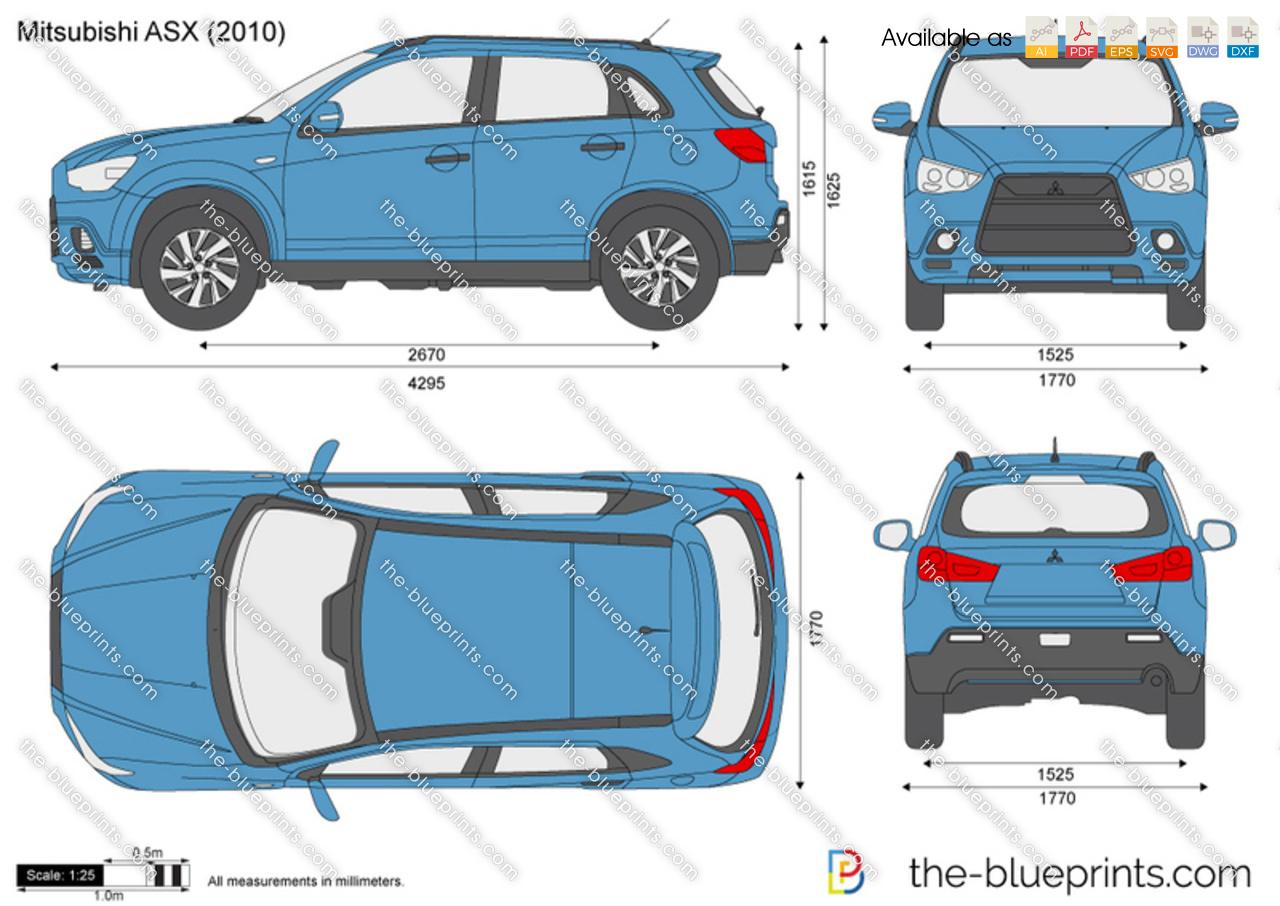 The Blueprints Com Vector Drawing Mitsubishi Asx