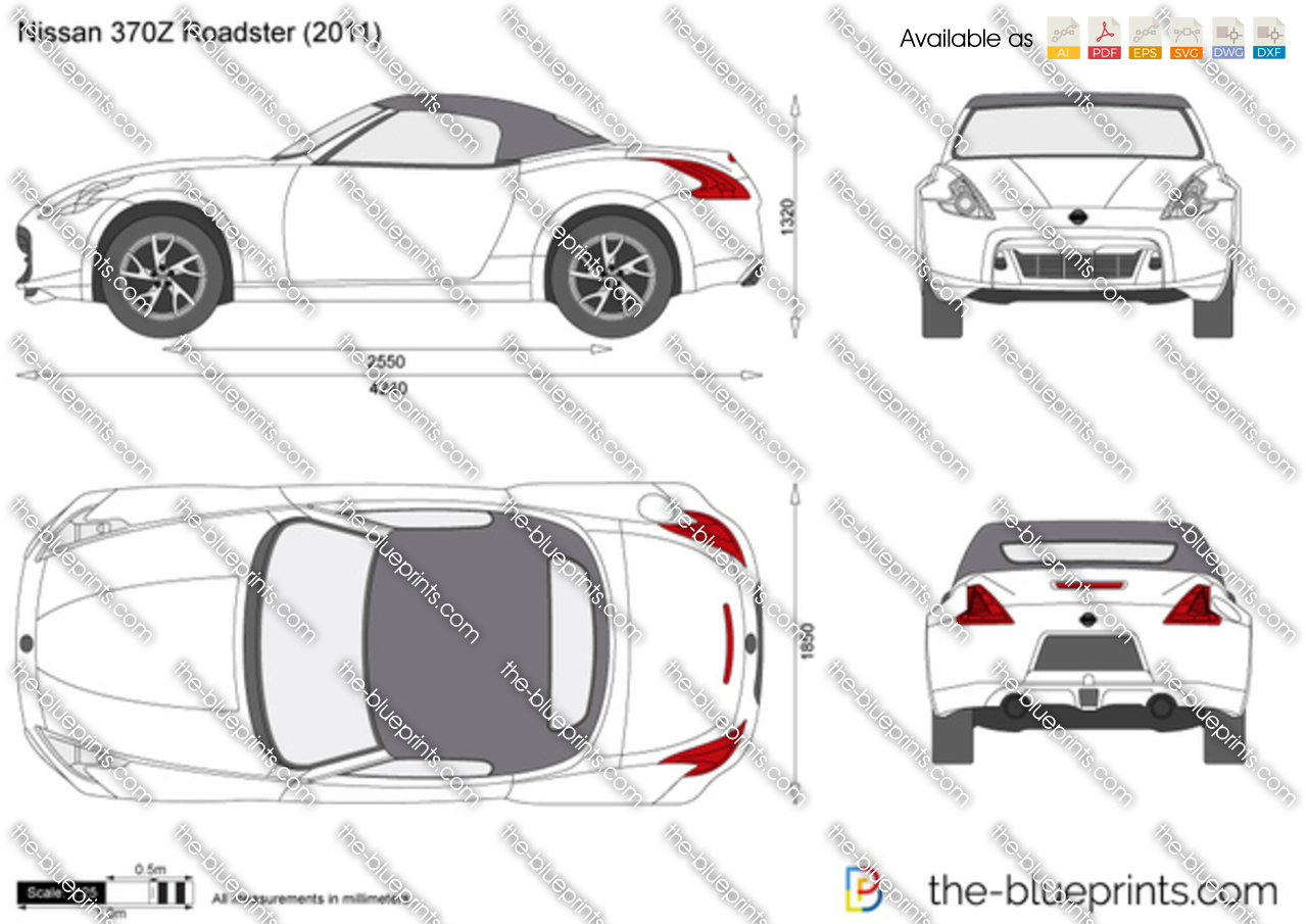 Nissan 370z Roadster Vector Drawing
