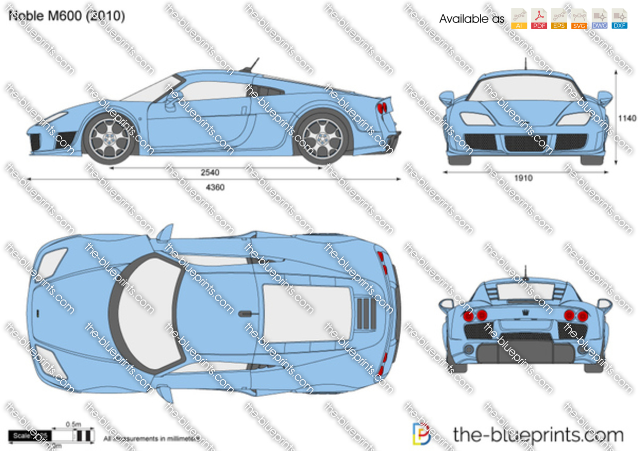 Noble M600 vector drawing
