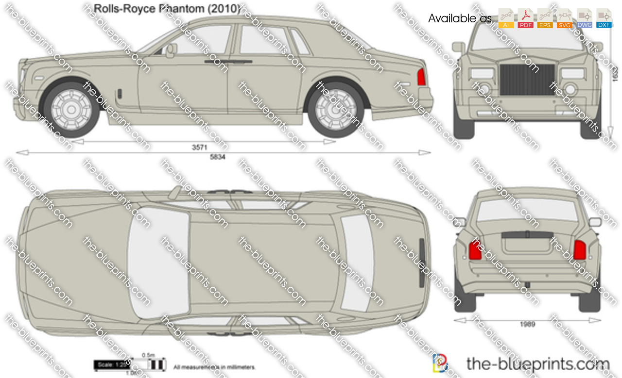 Rolls Royce Phantom Vector Drawing