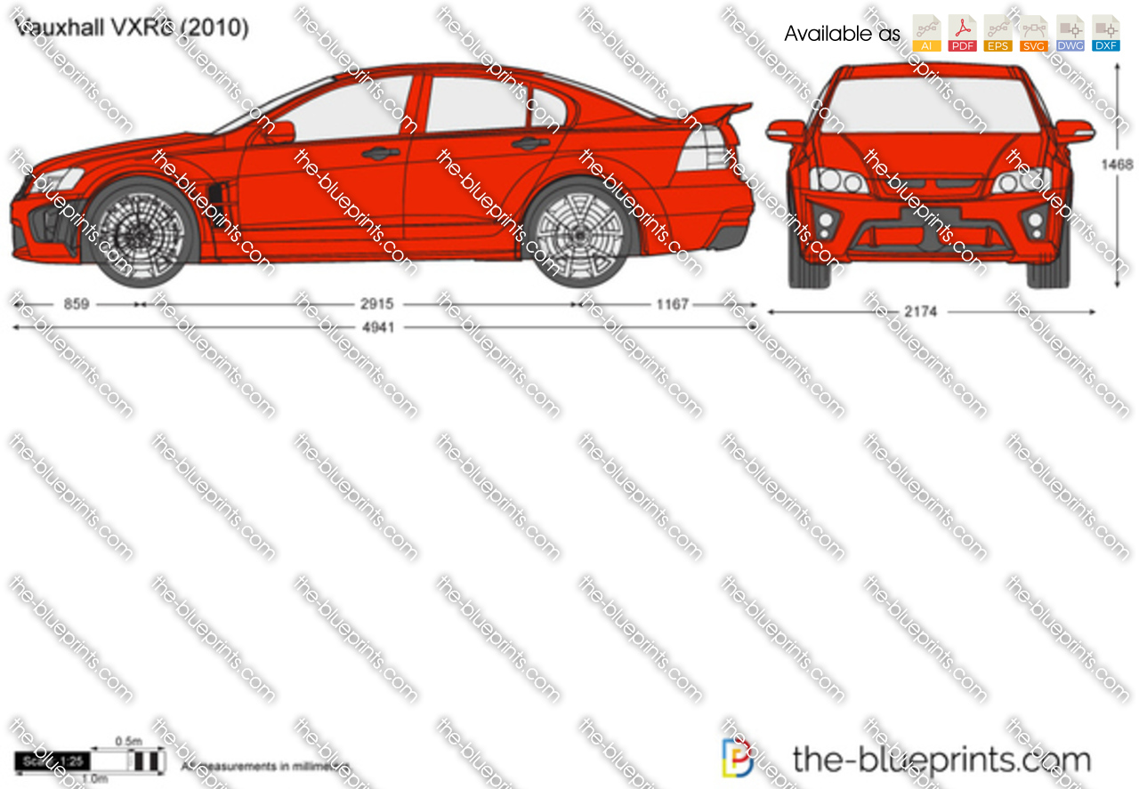 Vauxhall vauxhall vxr8 estate : The-Blueprints.com - Vector Drawing - Vauxhall VXR8
