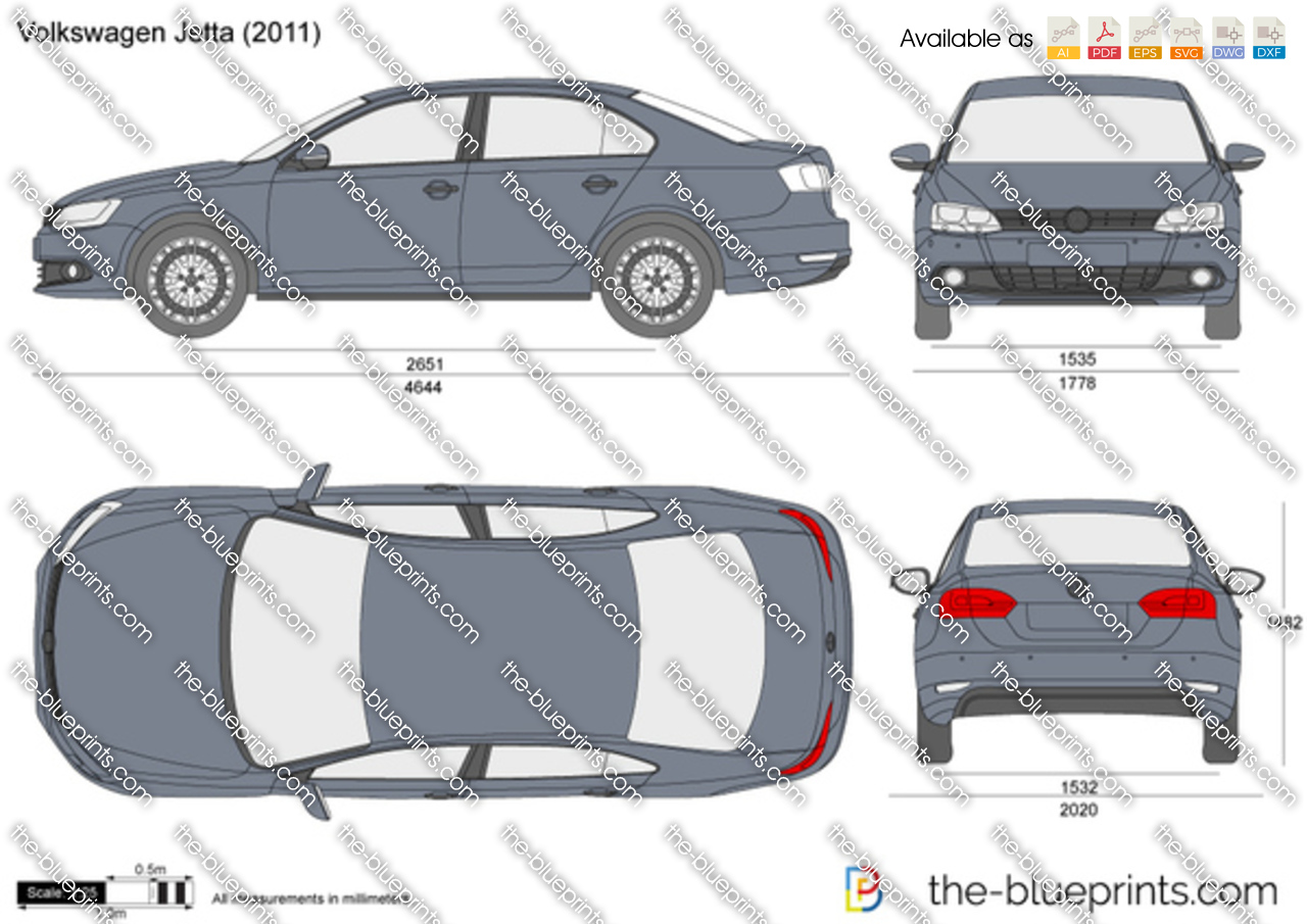 Volkswagen Jetta vector drawing