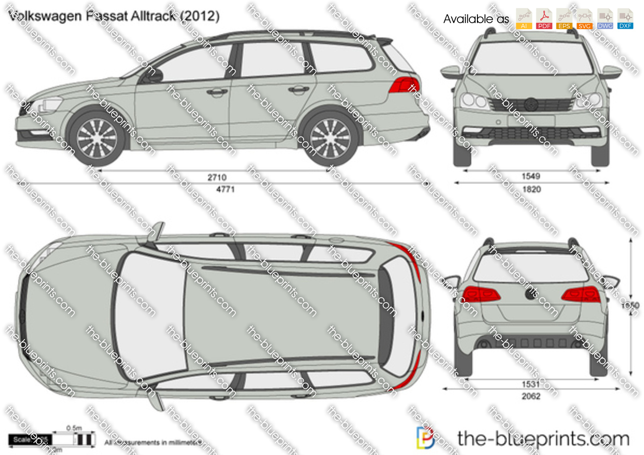volkswagen passat alltrack vector drawing. Black Bedroom Furniture Sets. Home Design Ideas