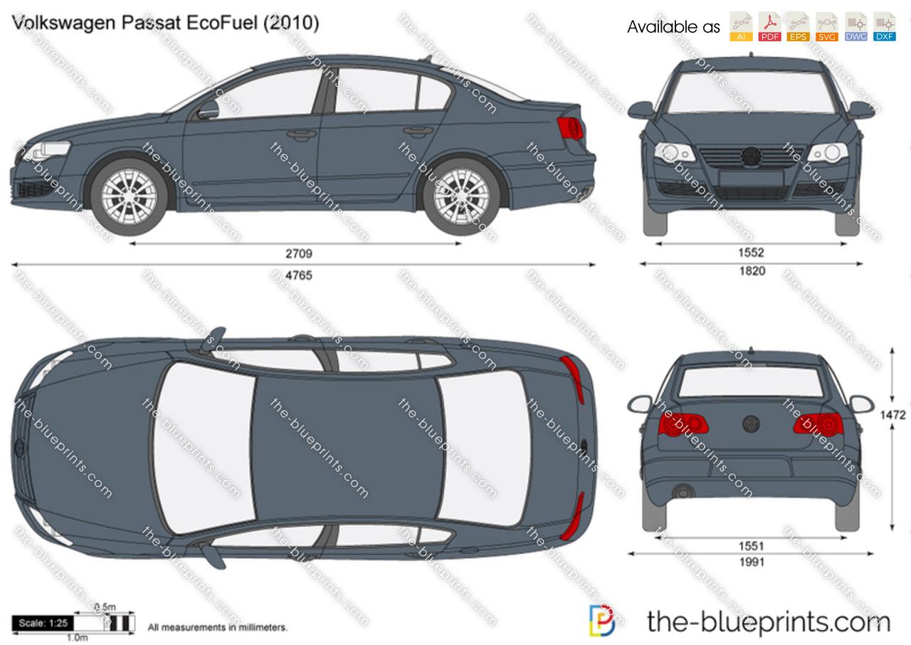 the vector drawing volkswagen passat ecofuel. Black Bedroom Furniture Sets. Home Design Ideas