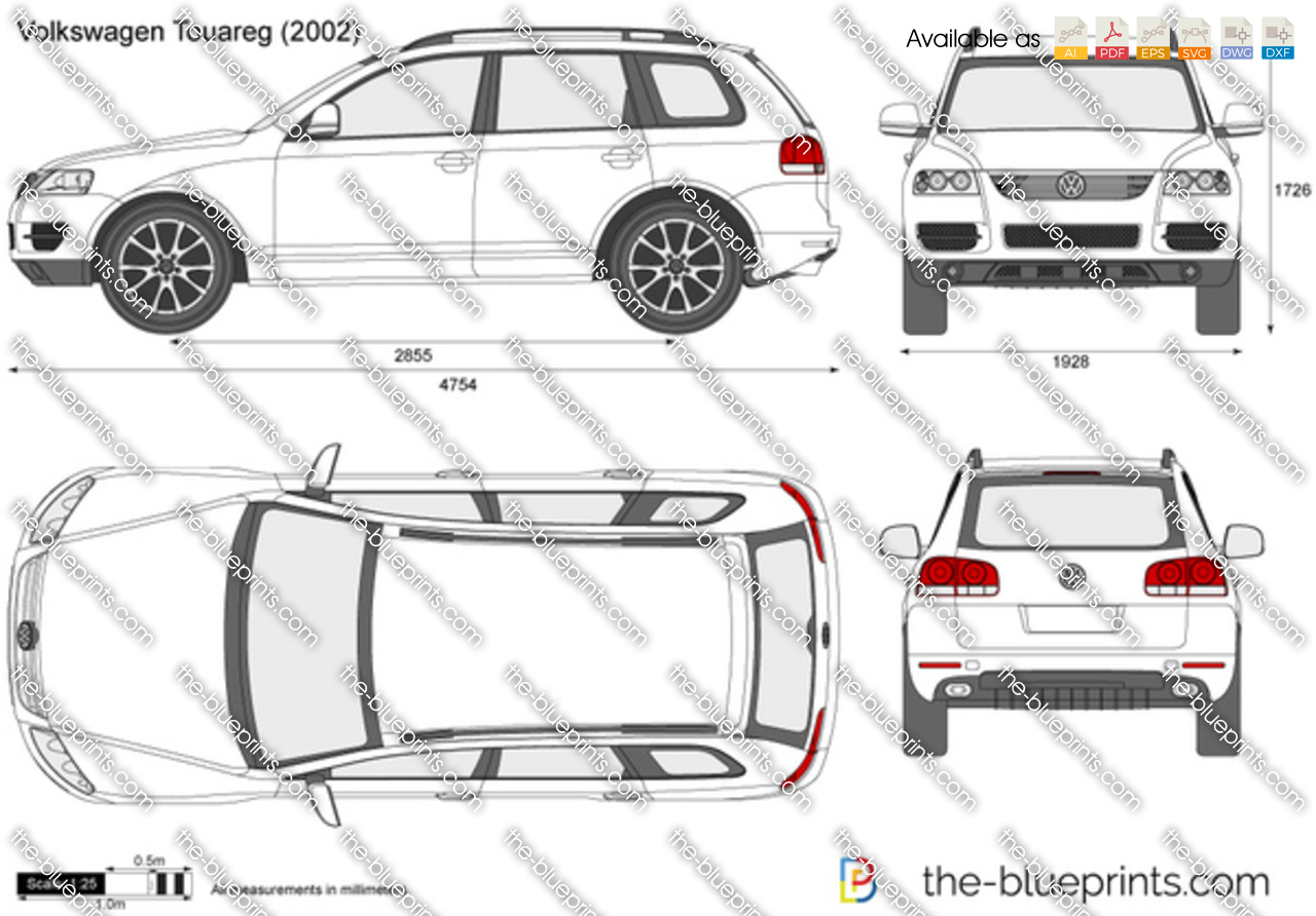 volkswagen touareg vector drawing