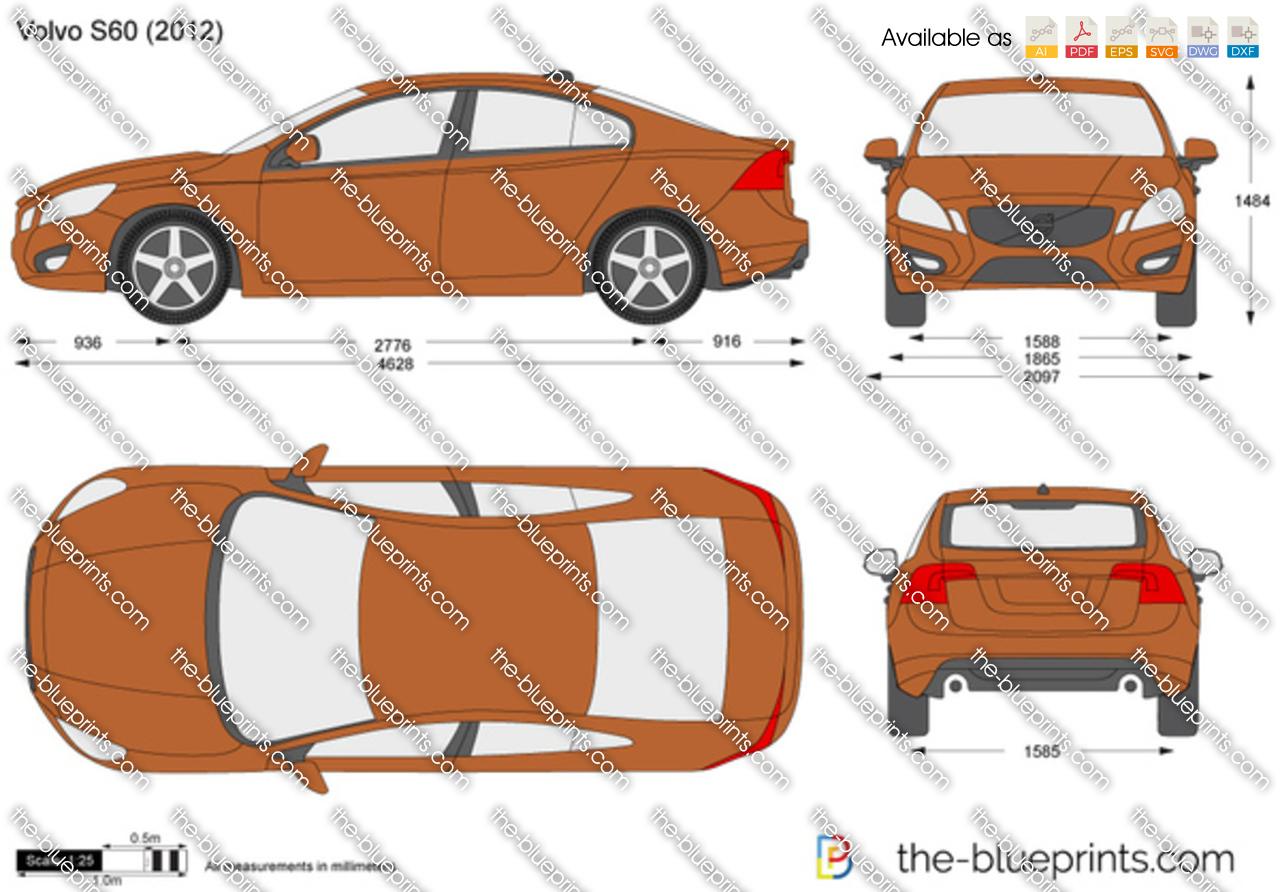 TheBlueprintscom  Vector Drawing  Volvo S60