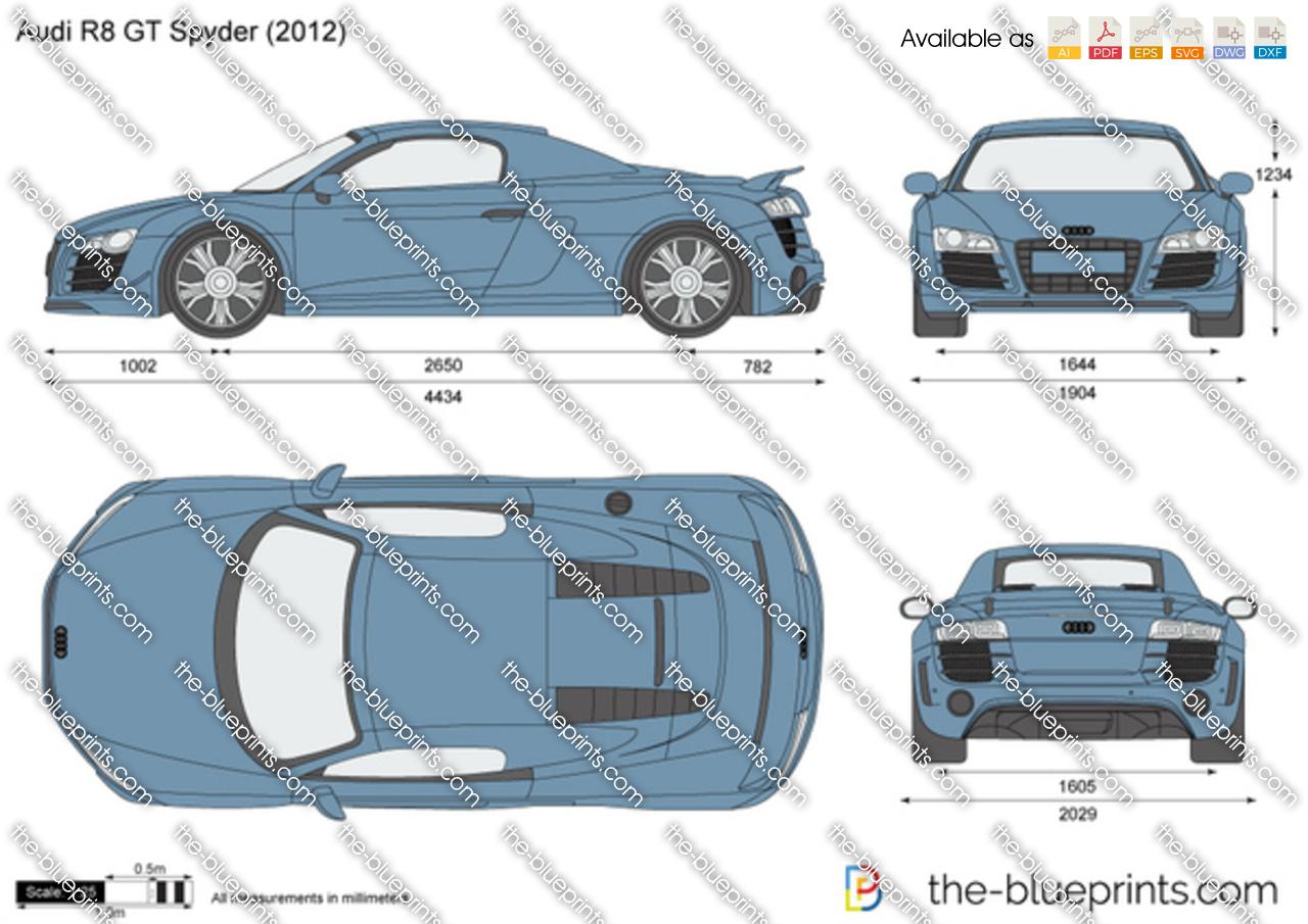 The Blueprints Com Vector Drawing Audi R8 Gt Spyder