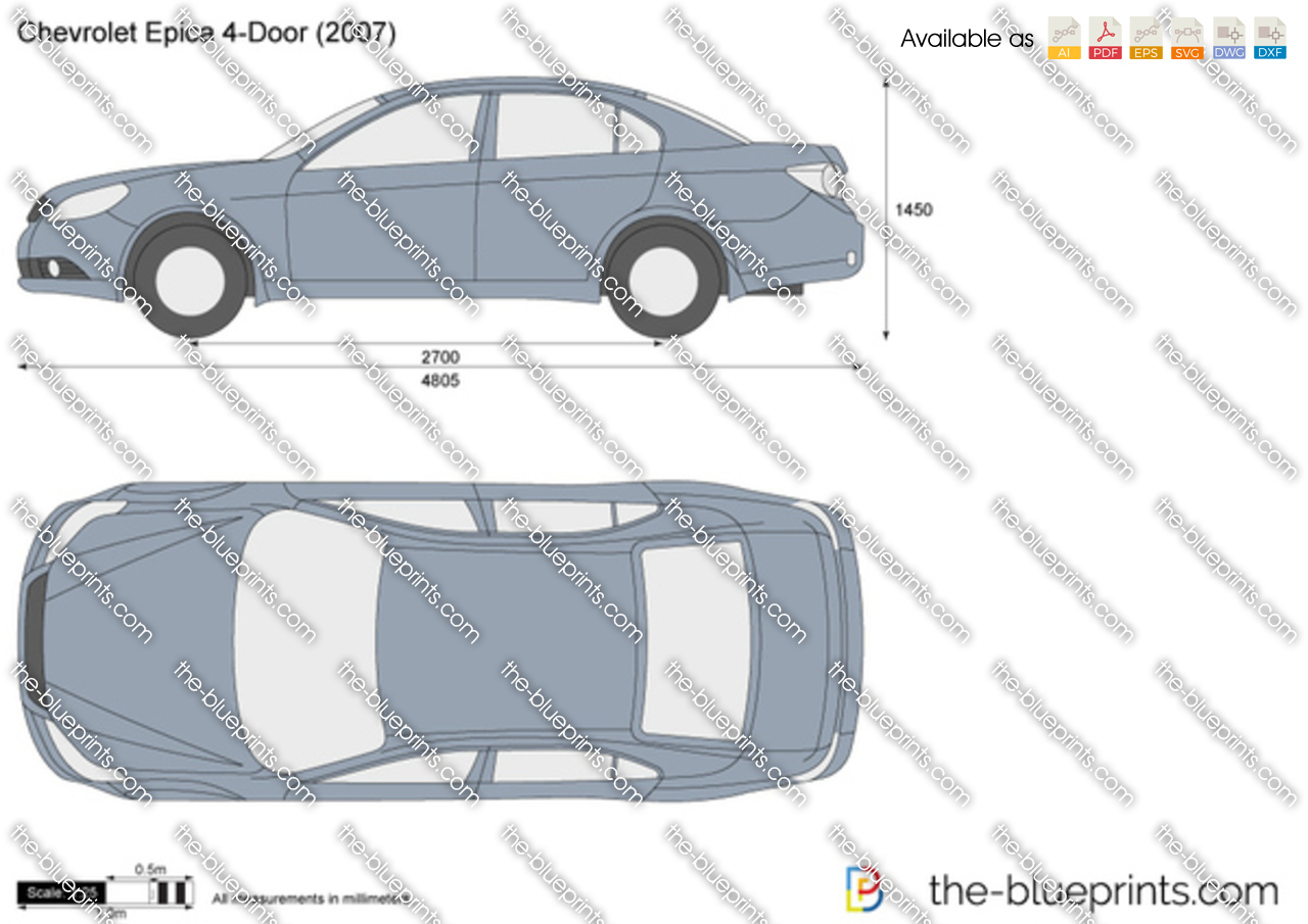 Chevrolet Epica 4 Door Vector Drawing