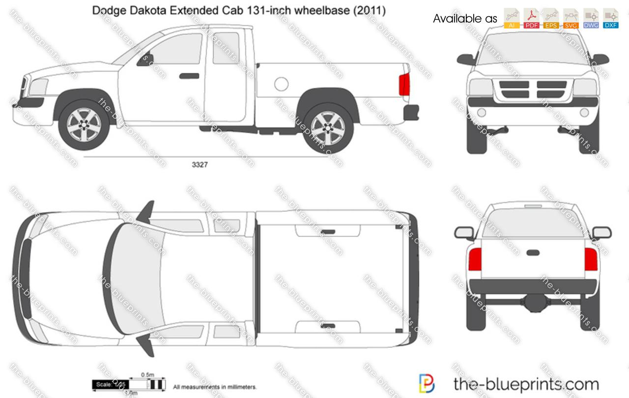 dodge dakota extended cab 131