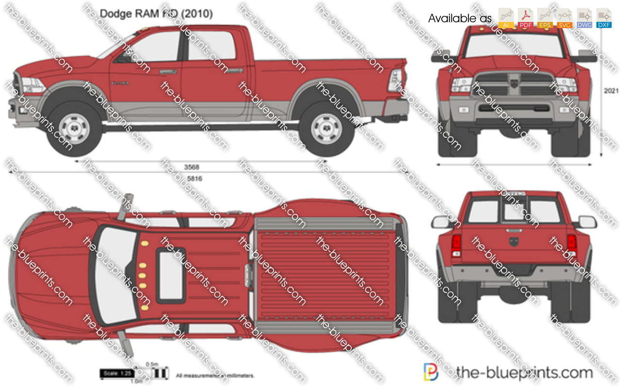 dodge ram hd vector drawing