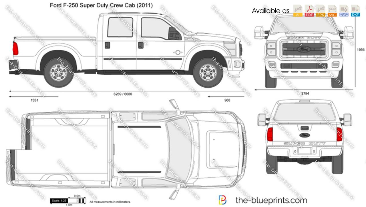 2016 ford f 250 dimensions
