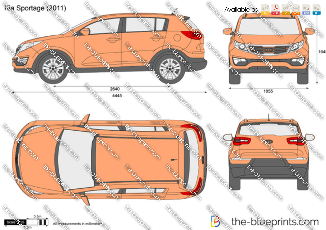 Kia Sportage Vector Drawing