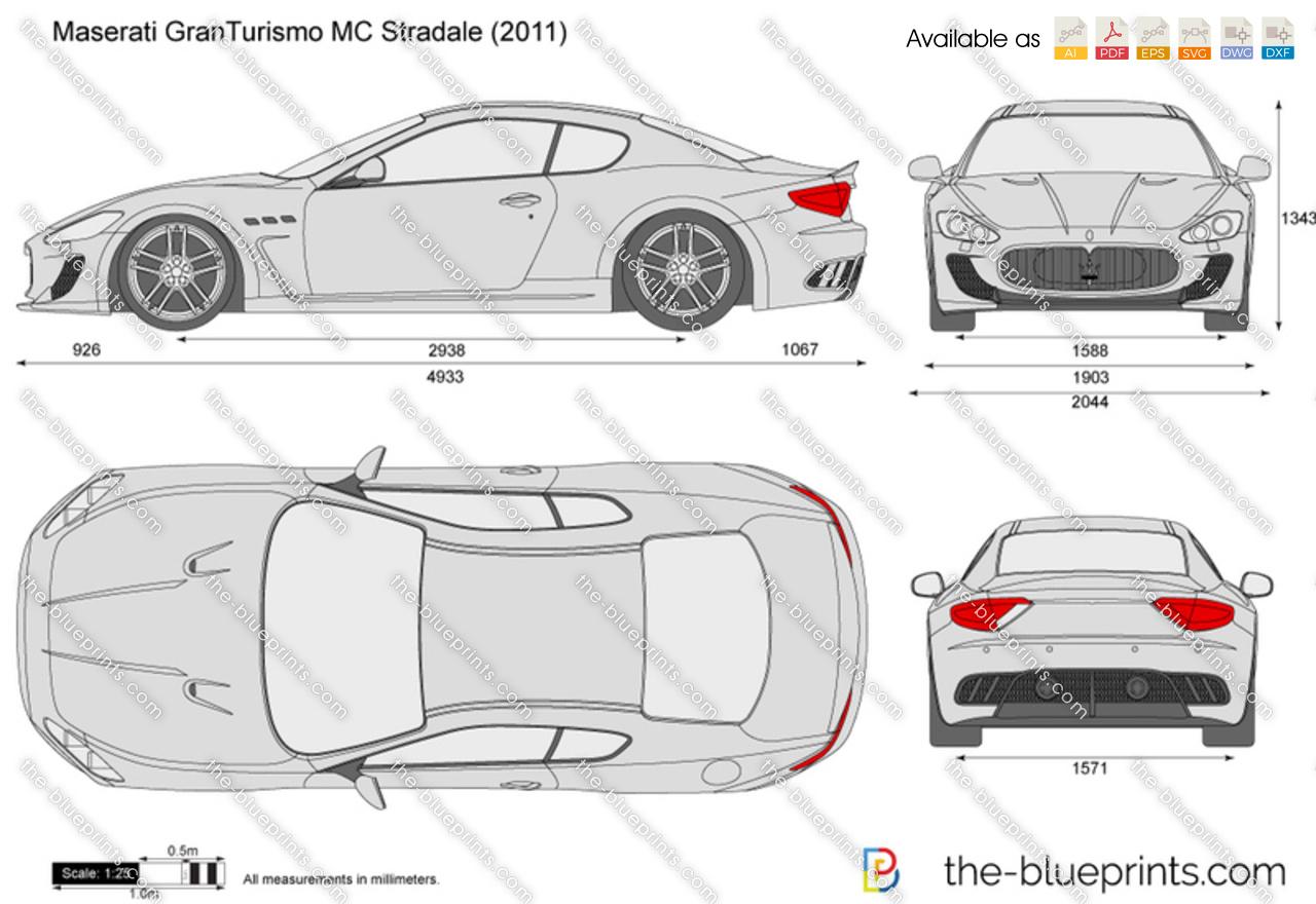 Maserati granturismo mc stradale vector drawing maserati granturismo mc stradale malvernweather Gallery