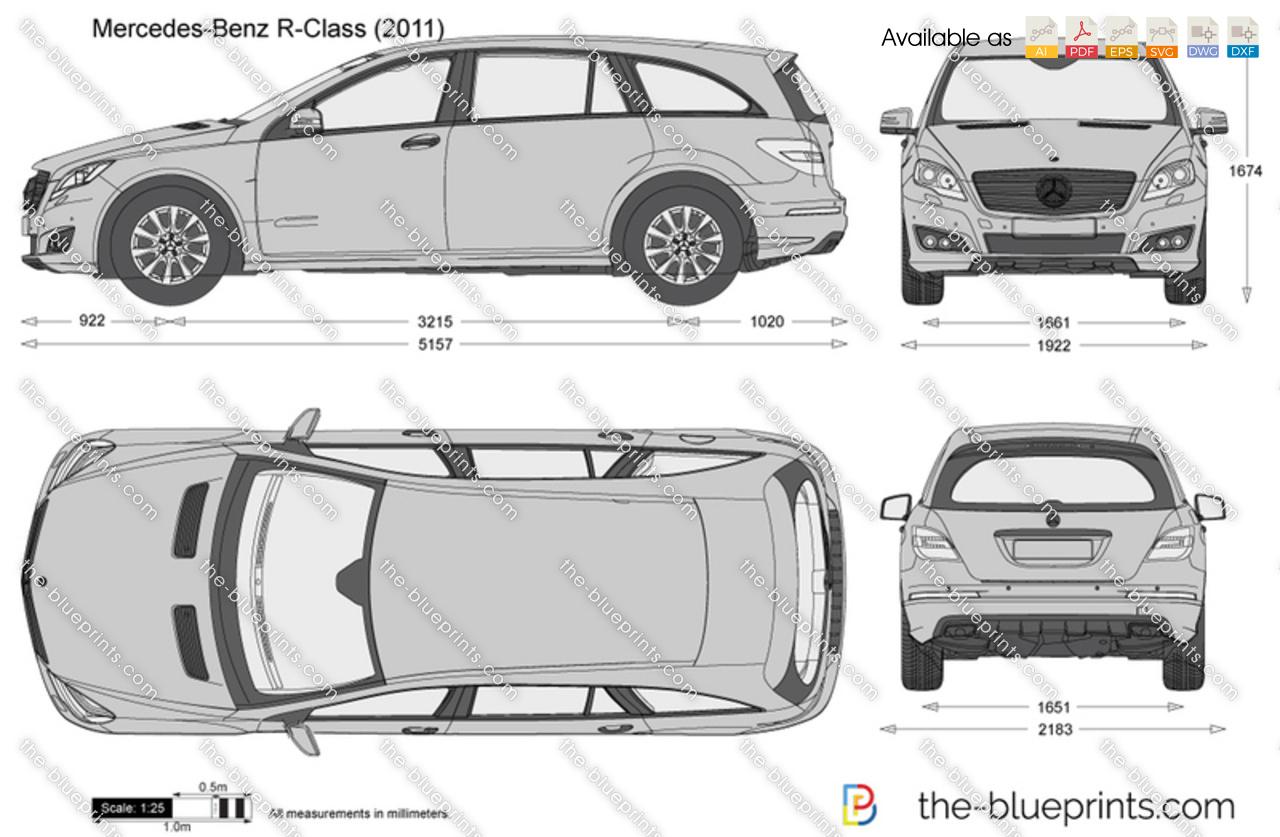 Mercedes Classe R Dimension