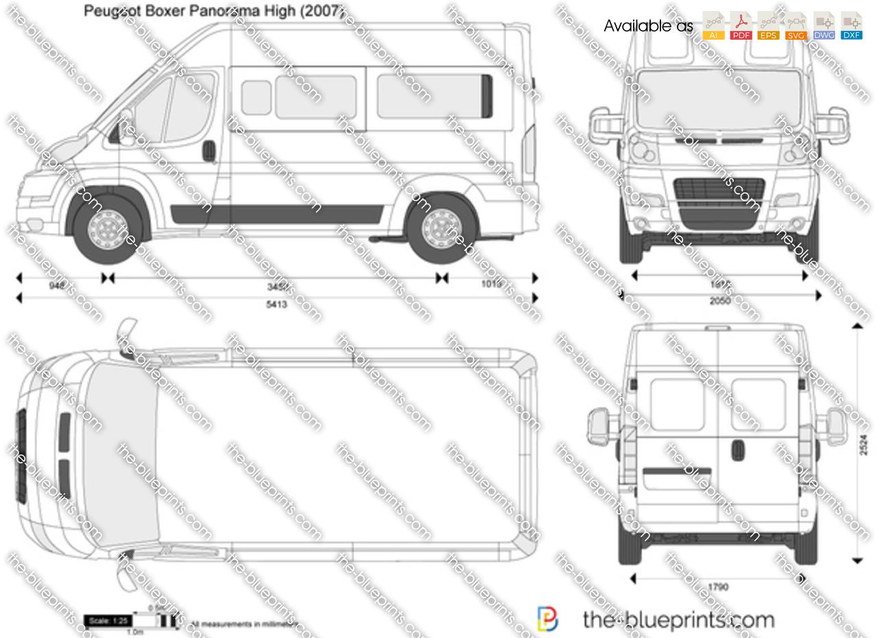 Peugeot Boxer Panorama High Vector Drawing