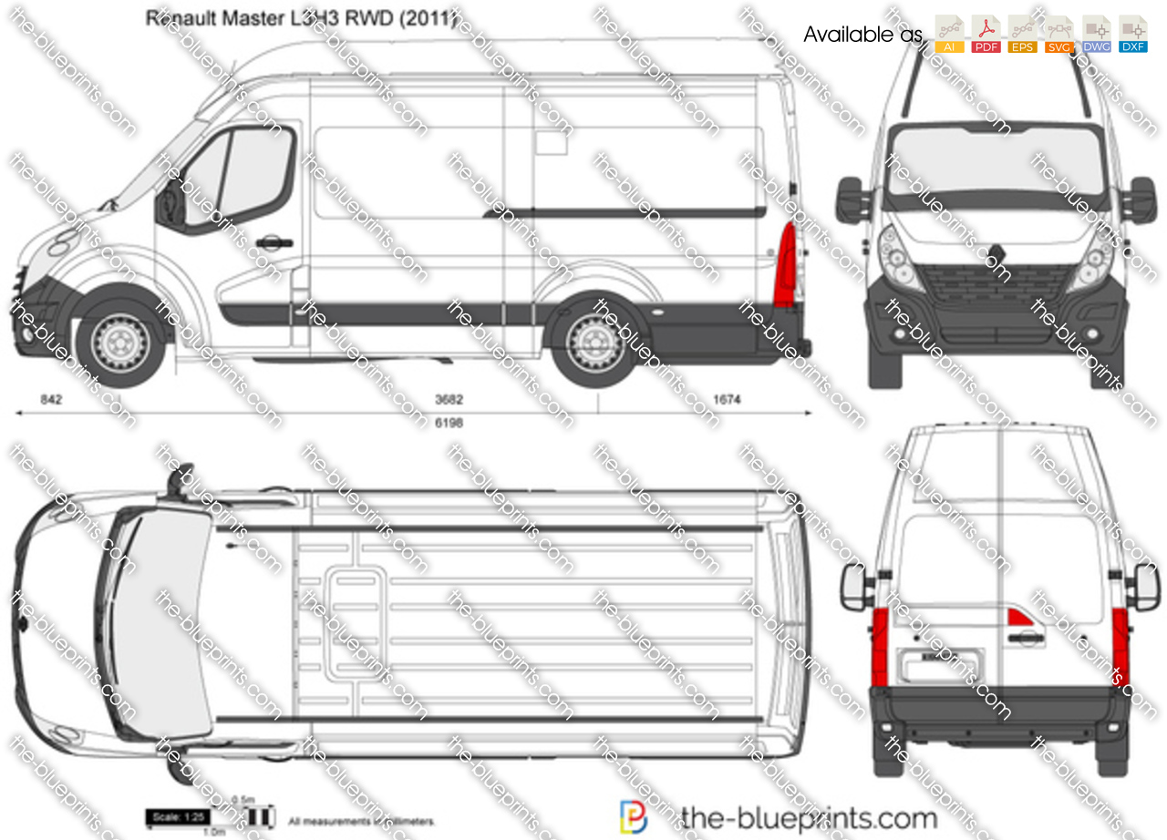 the vector drawing renault master l3h3 rwd. Black Bedroom Furniture Sets. Home Design Ideas