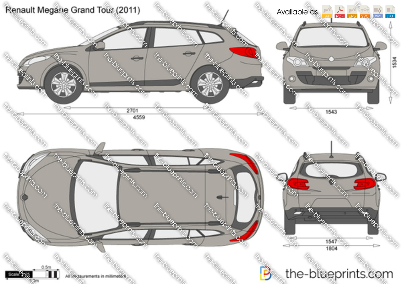 the vector drawing renault megane grand tour. Black Bedroom Furniture Sets. Home Design Ideas