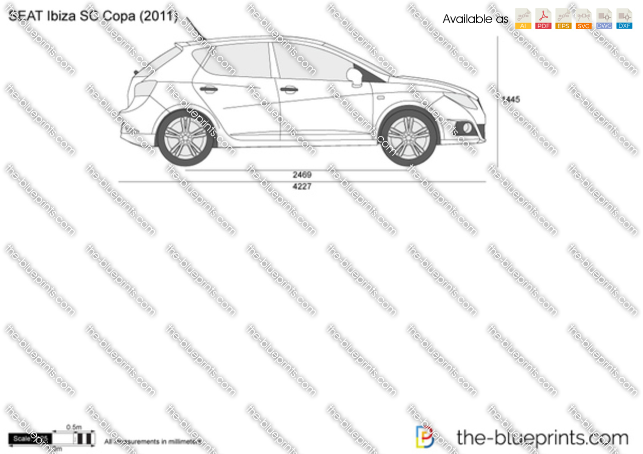 seat ibiza sc copa vector drawing. Black Bedroom Furniture Sets. Home Design Ideas