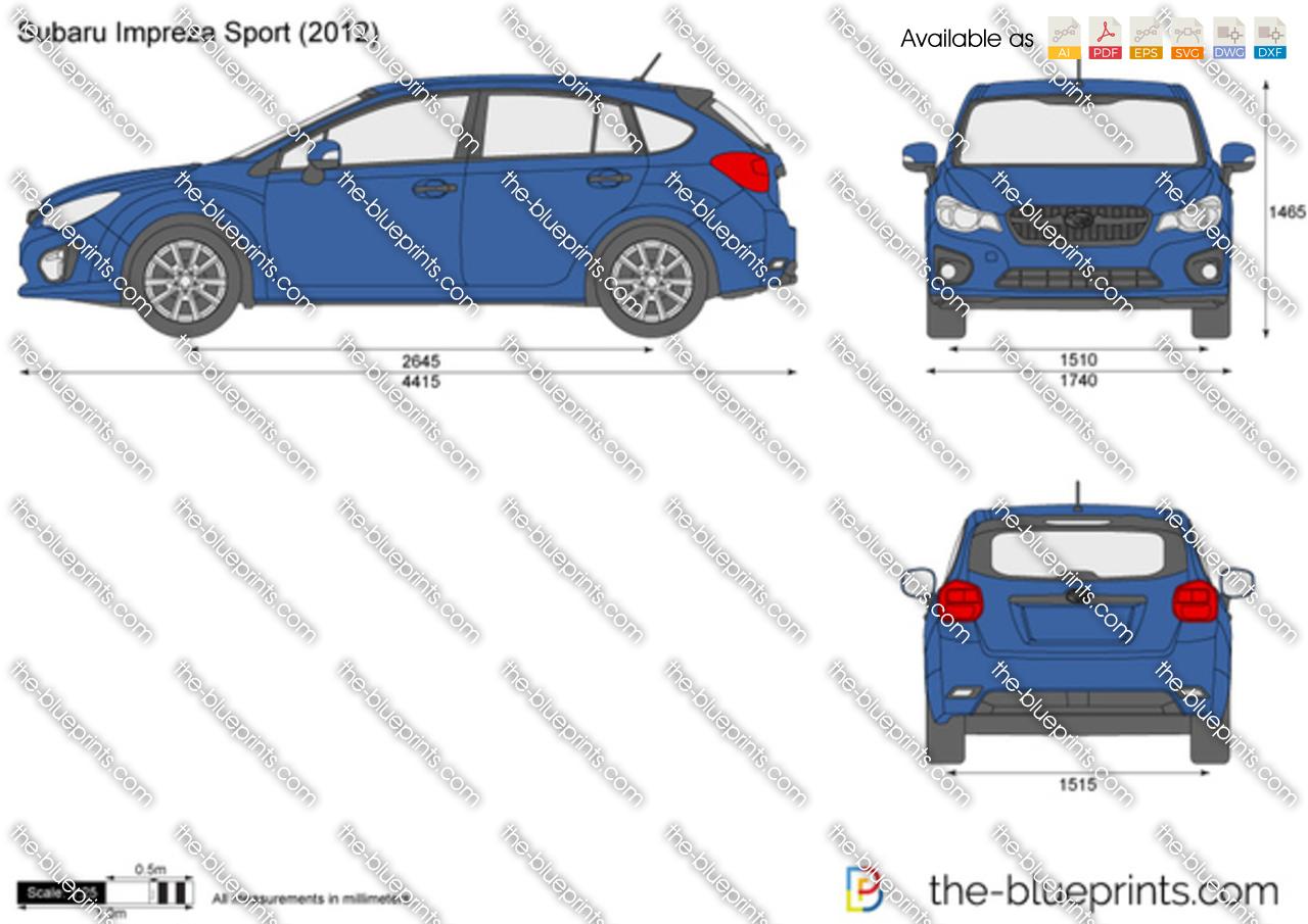 Subaru impreza dimensions 2017