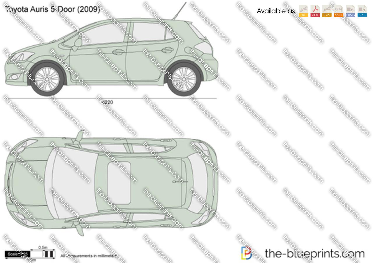 toyota auris 5 door vector drawing. Black Bedroom Furniture Sets. Home Design Ideas