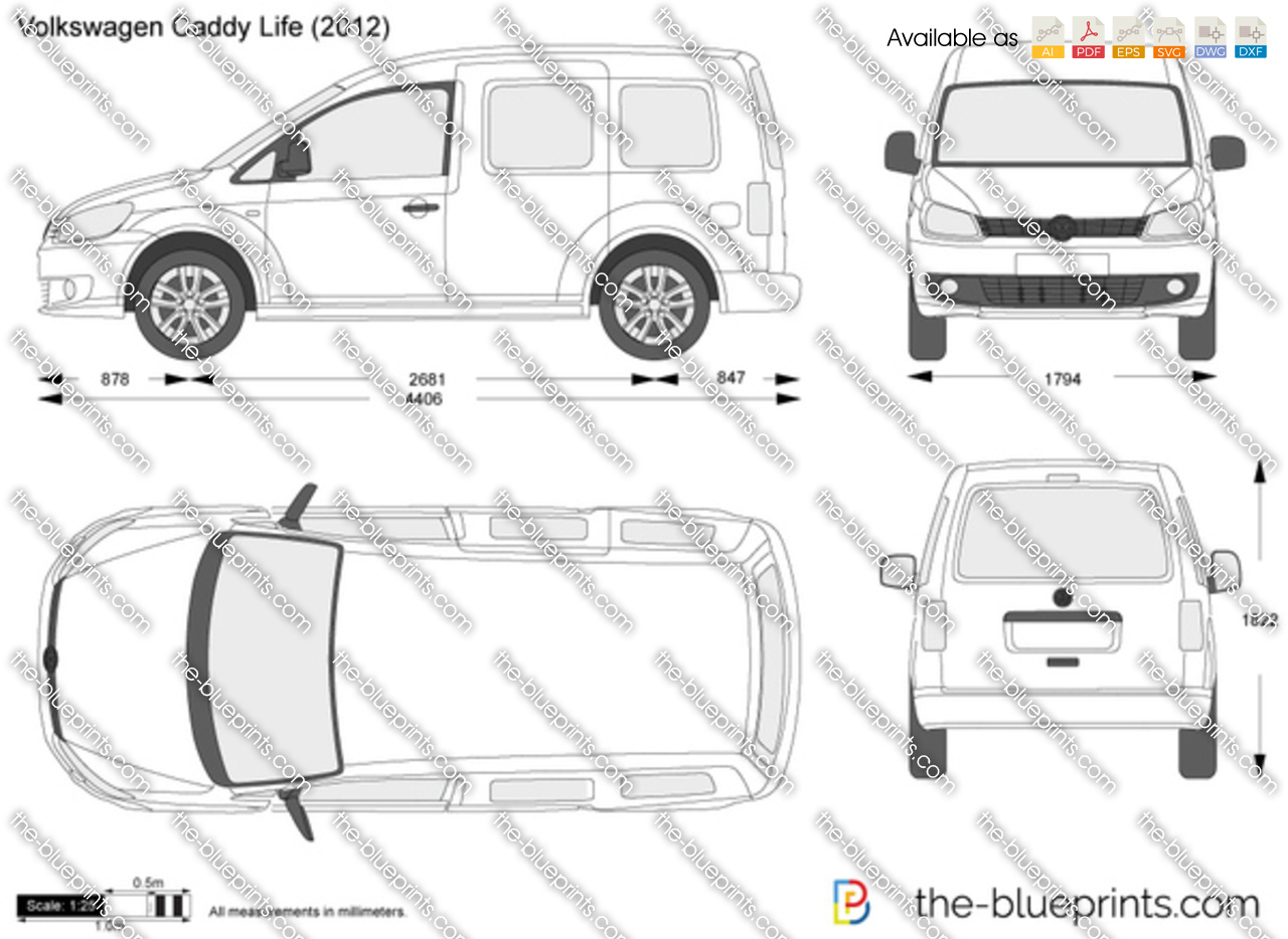 Vw caddy internal measurements volkswagen caddy maxi life vw caddy internal measurements the blueprints vector drawing volkswagen caddy life malvernweather Gallery