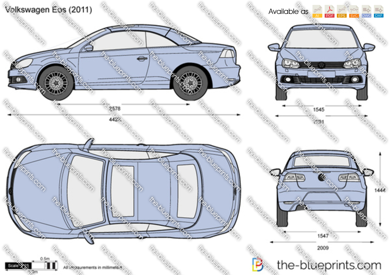 Volkswagen Eos vector drawing