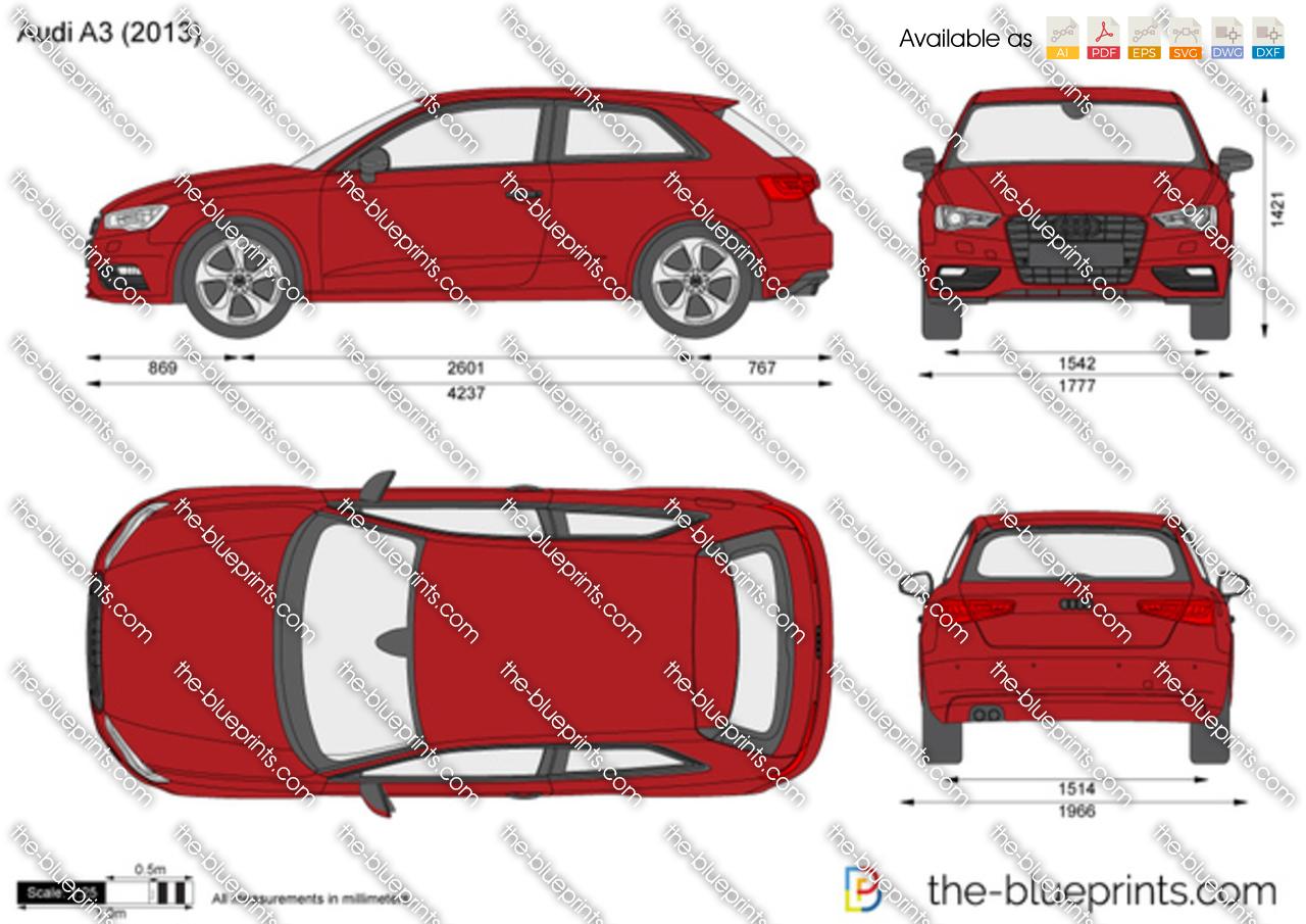 Audi A3 Vector Drawing