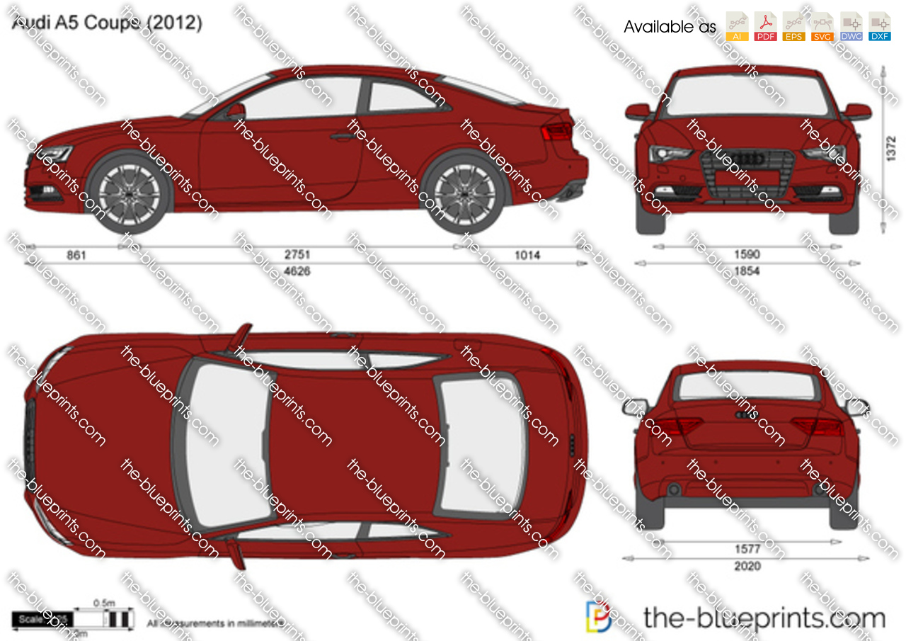 The Blueprints Com Vector Drawing Audi A5 Coupe