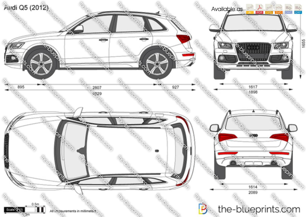 Audi Q5 Vector Drawing