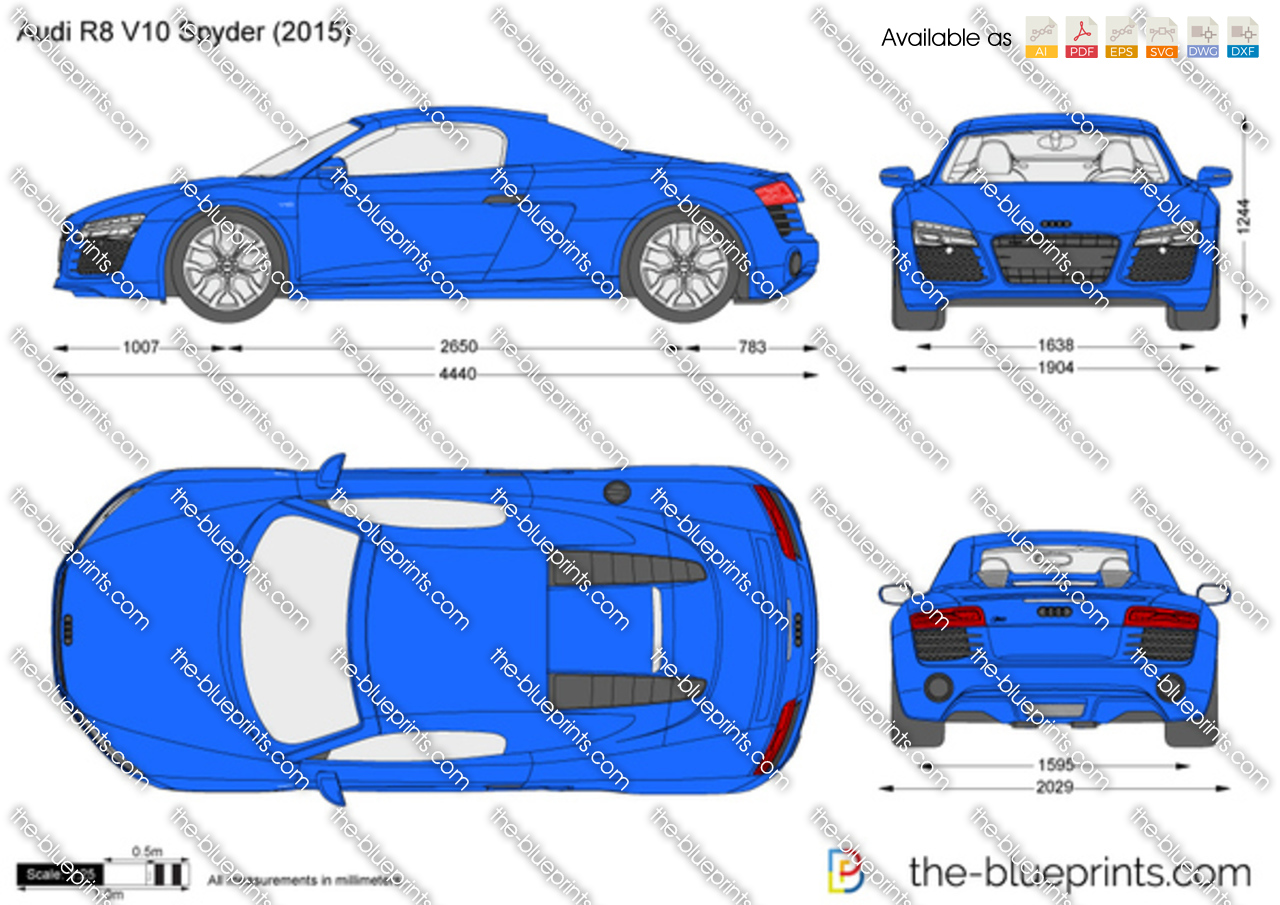 The Blueprints Com Vector Drawing Audi R8 V10 Spyder