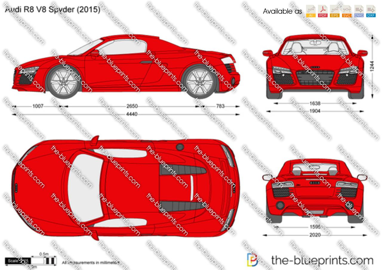The blueprints vector drawing audi r8 v8 spyder 2012 audi r8 v8 spyder malvernweather Images