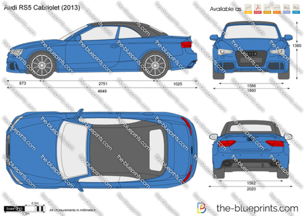 Audi Rs5 Cabriolet Vector Drawing