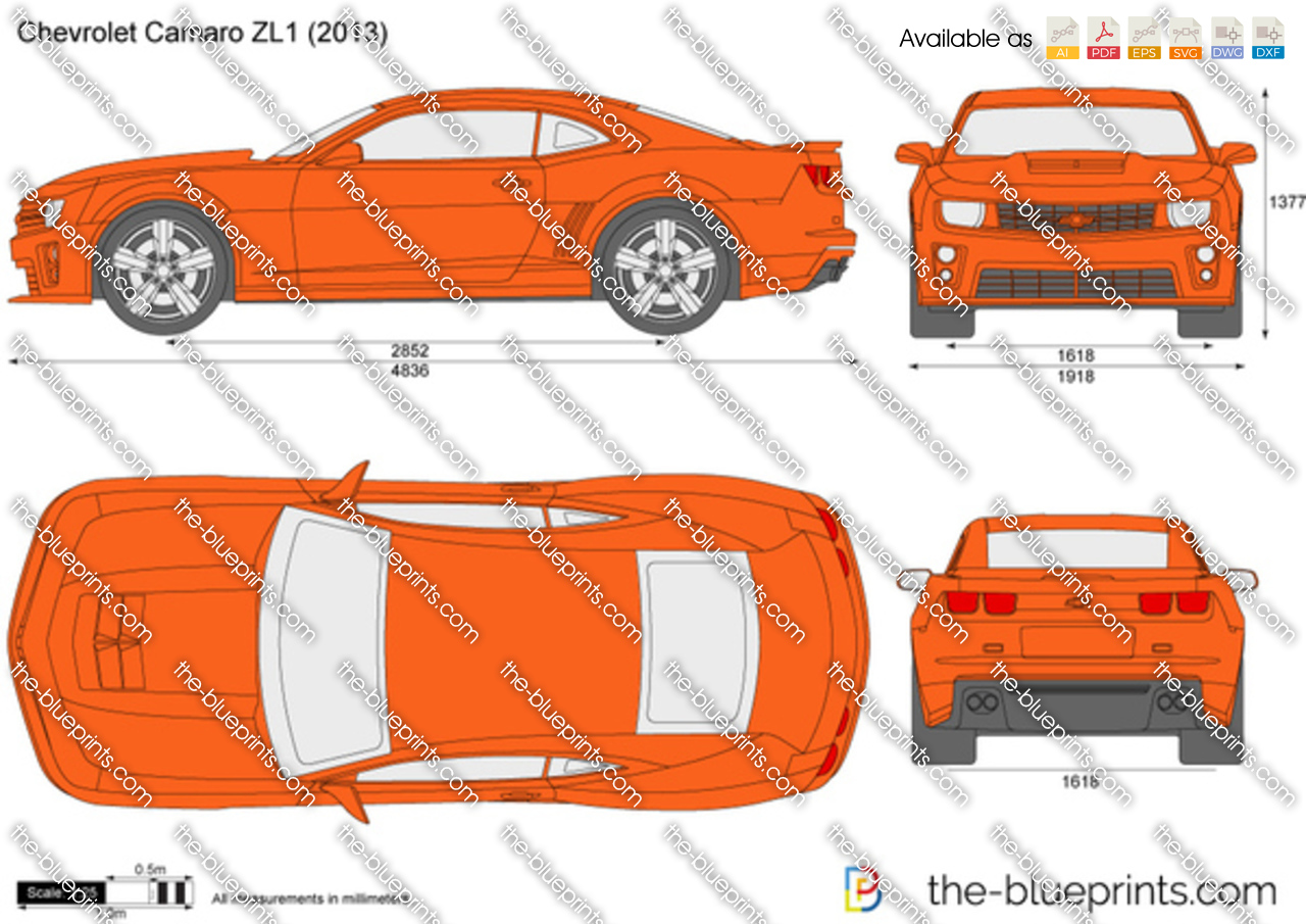 The Blueprints Com Vector Drawing Chevrolet Camaro Zl1