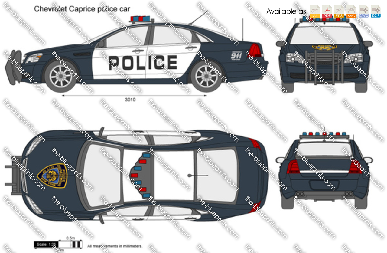 Chevrolet caprice police car vector drawing chevrolet caprice police car malvernweather Image collections