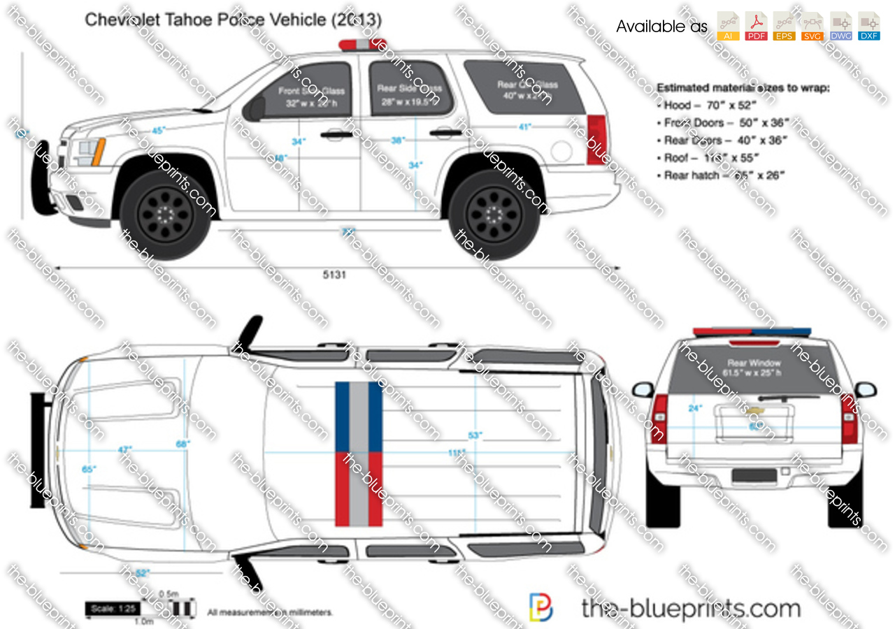The blueprints vector drawing chevrolet tahoe police vehicle chevrolet tahoe police vehicle malvernweather Image collections