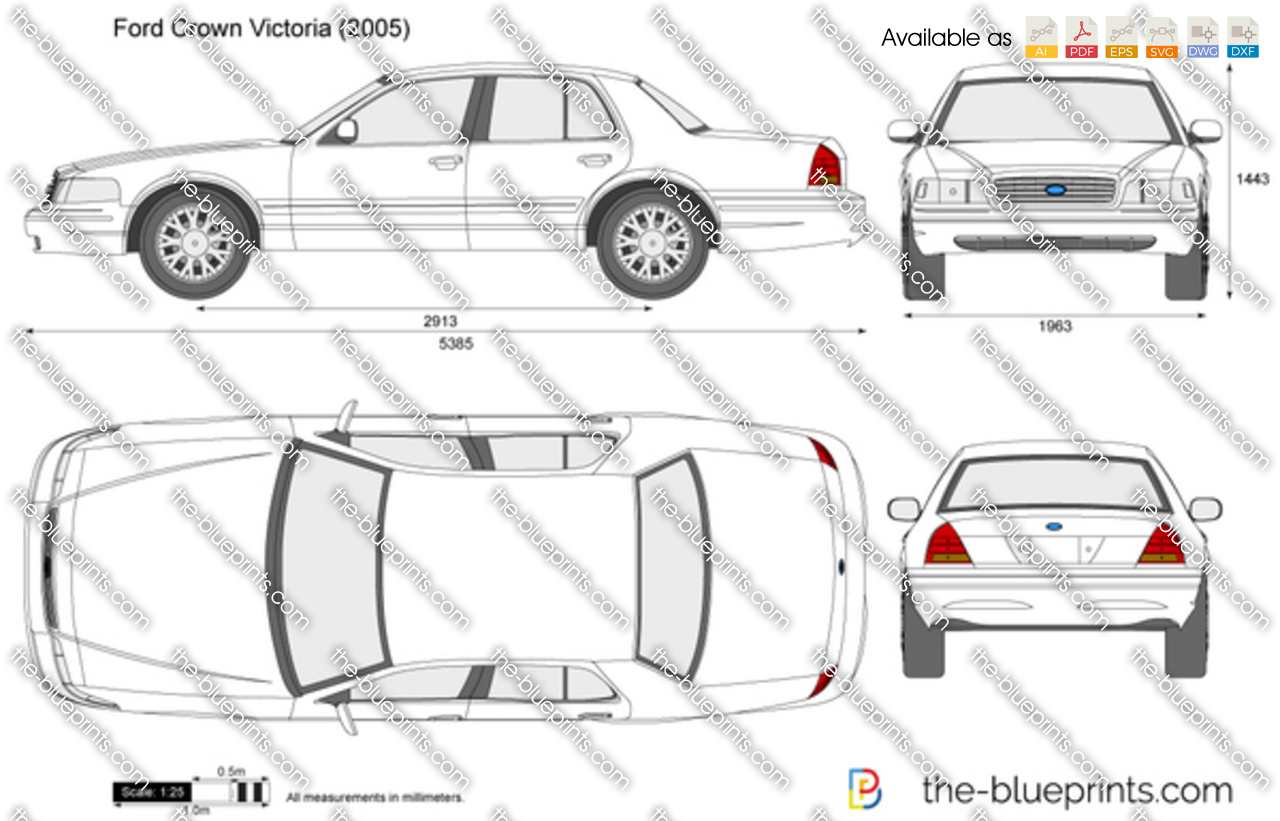 1998 ford crown victoria dimensions
