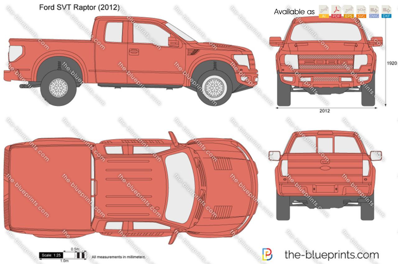 Ford F 150 Svt Raptor Vector Drawing