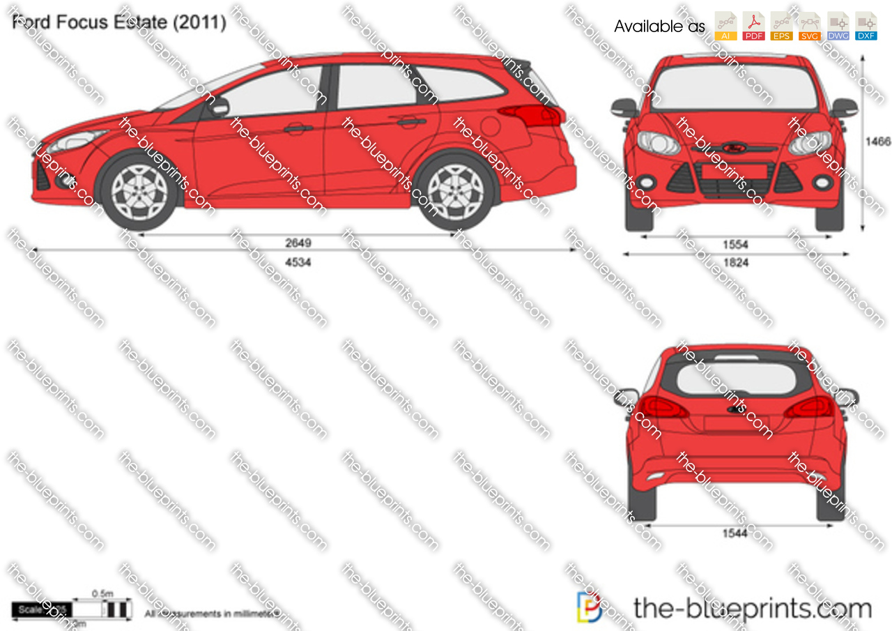 Ford focus estate vector drawing for Ford motor credit application pdf