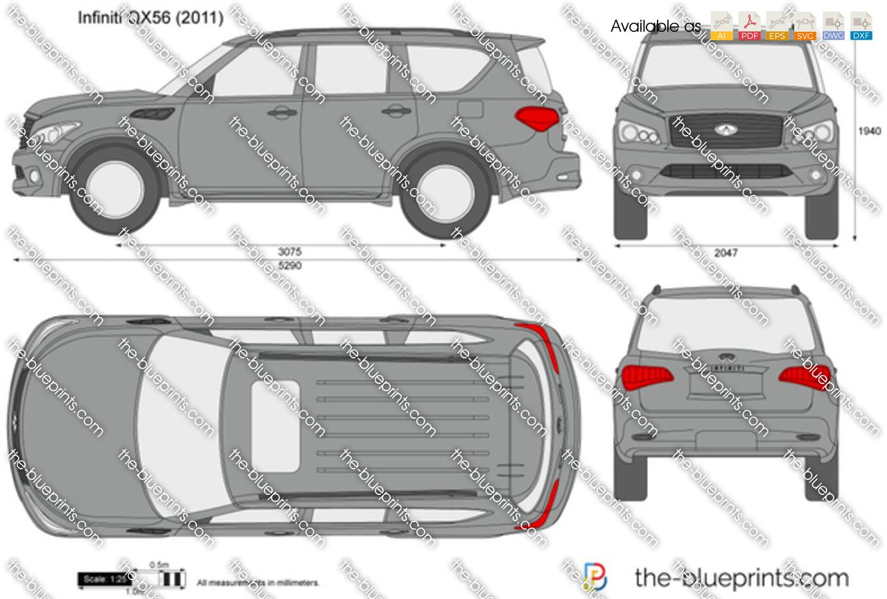The-Blueprints.com - Vector Drawing - Infiniti QX56