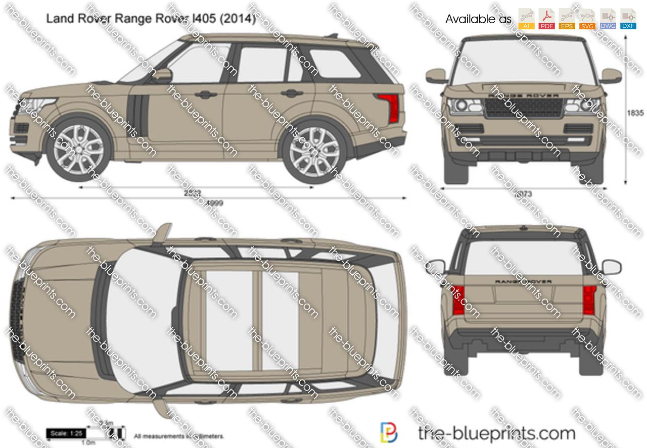 Range Rover Freelander 2016 >> The-Blueprints.com - Vector Drawing - Land Rover Range Rover