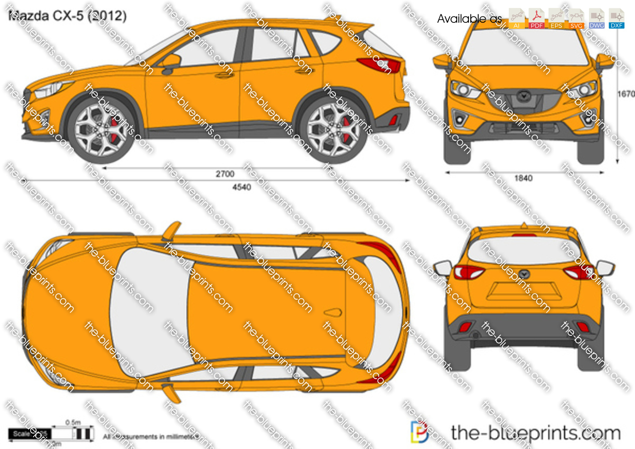 mazda cx 5 vector drawing. Black Bedroom Furniture Sets. Home Design Ideas