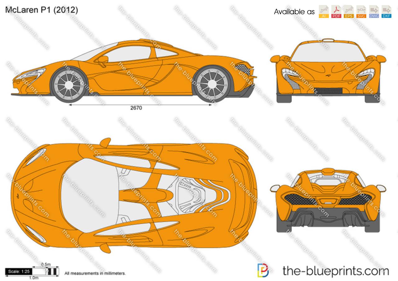 Ktm X Bow Price >> The-Blueprints.com - Vector Drawing - McLaren P1