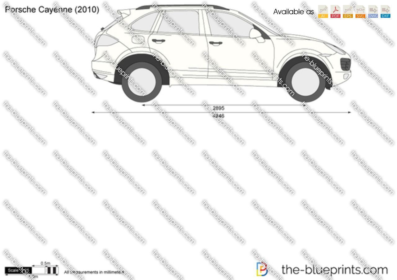 porsche cayenne vector drawing