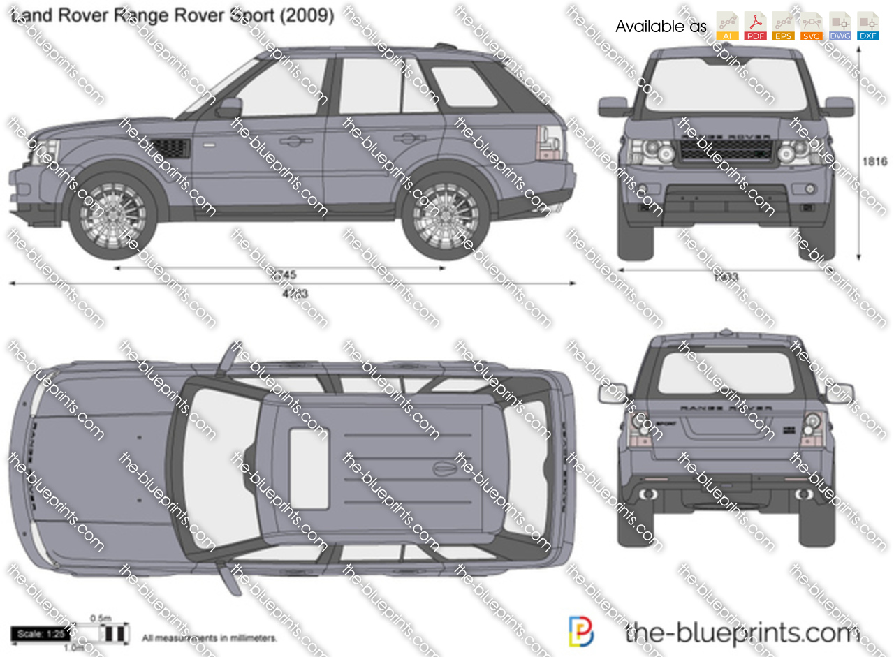Range Rover Sport Vector Drawing