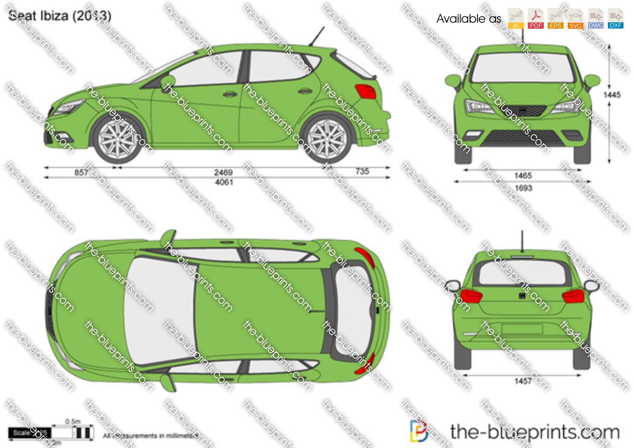seat ibiza 5 door vector drawing. Black Bedroom Furniture Sets. Home Design Ideas