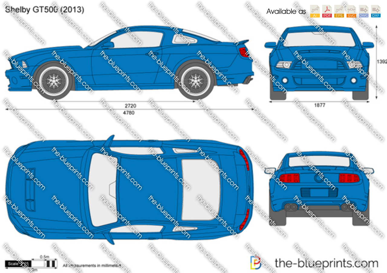 Shelby Gt500 Vector Drawing
