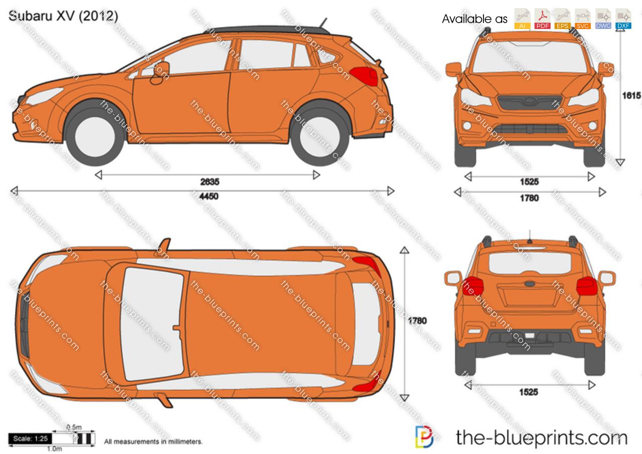 Subaru Xv Vector Drawing