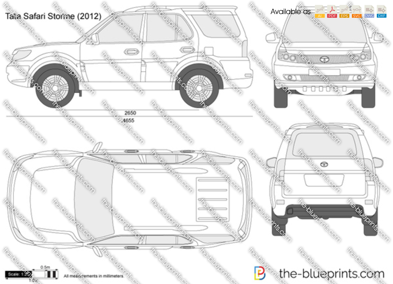 Tata Safari Storme vector drawing