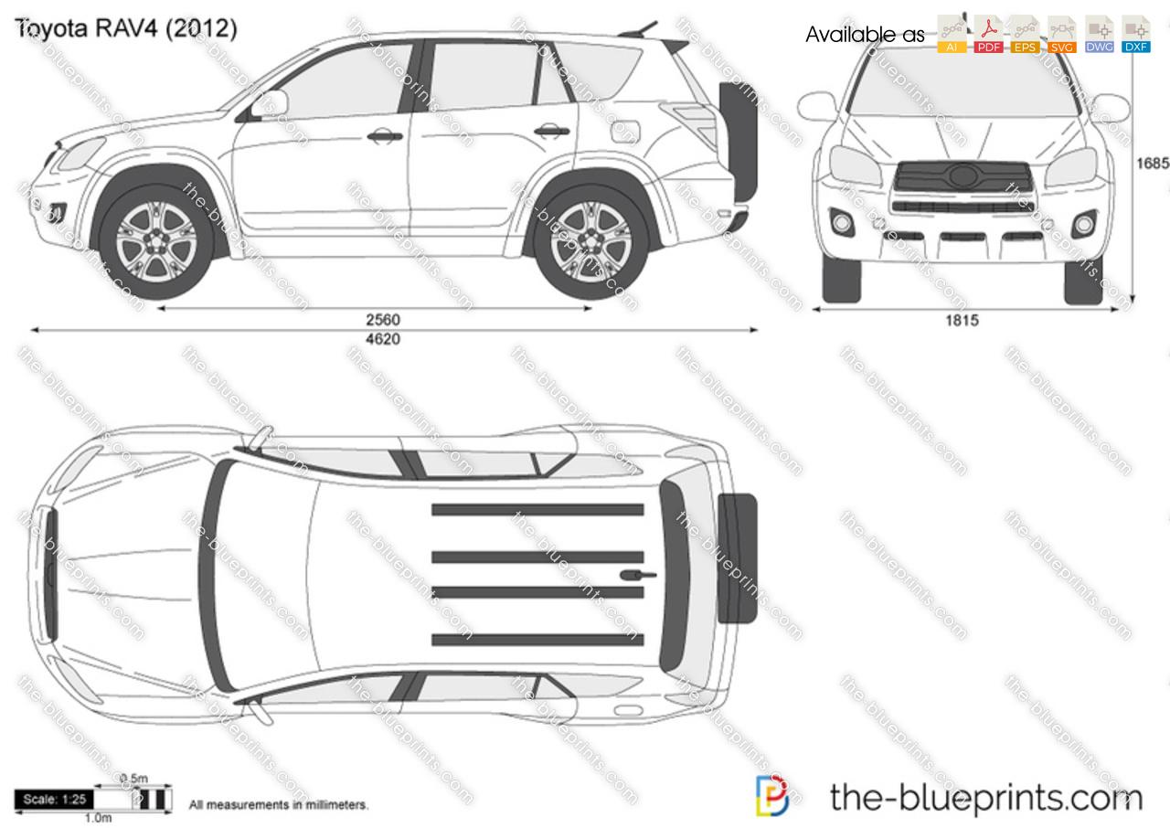Toyota Rav4 Vector Drawing