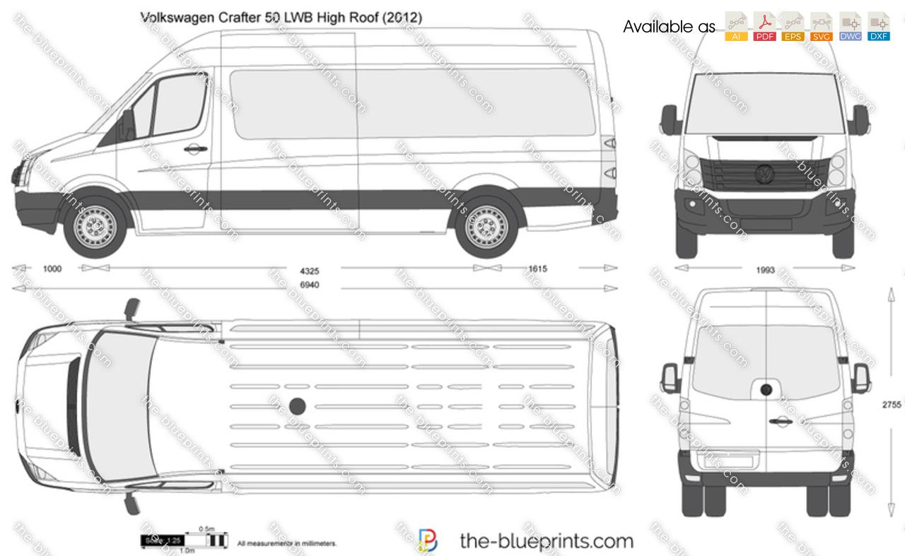 Vw Credit Login >> The-Blueprints.com - Vector Drawing - Volkswagen Crafter ...